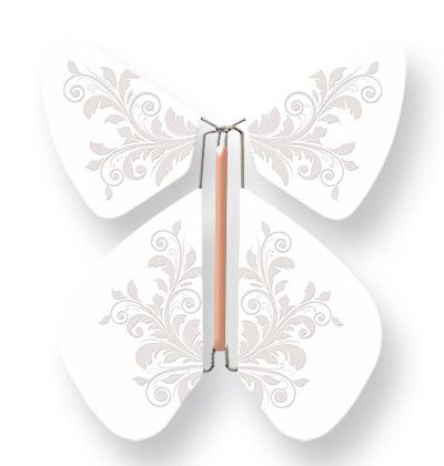 Papillon Magique Faire-part-Blanc