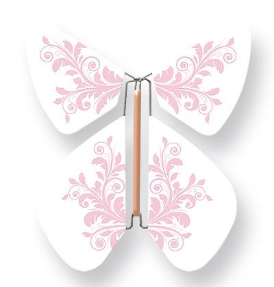 Papillon Magique Volant Fleur Rose