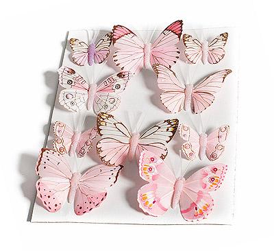 Papillon Rose Dégradé Décoration