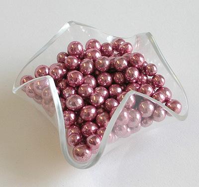 Perles chocolat Rose Gold