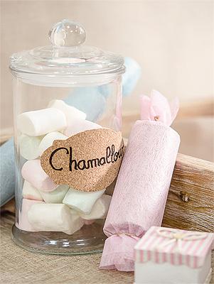 Bonbonnière Bonbons en verre droite avec couvercle