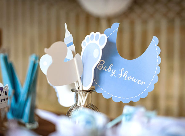 Kit photobooth Baby Shower ciel