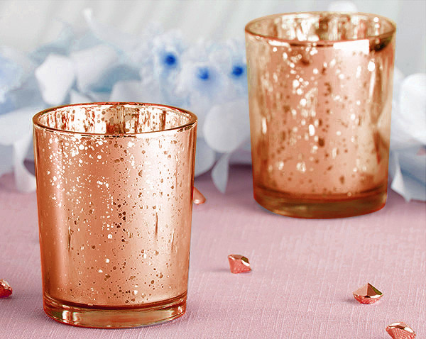 Photophore Verre Rose Gold 1001 Nuits