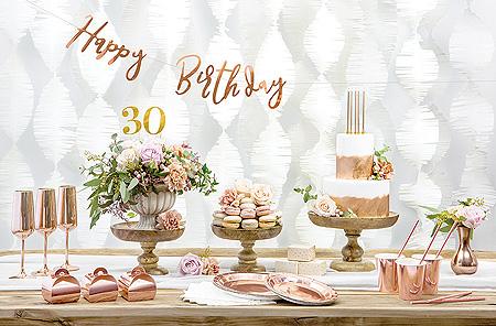 Chiffre Pic Gâteau Anniversaire Doré