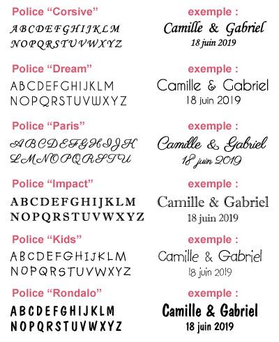 Polices écriture ruban personnalisé