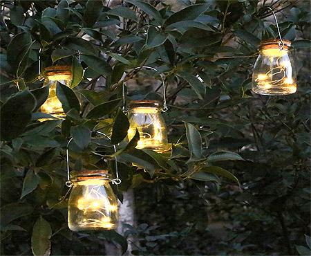 Pot Verre Déco Lanterne à Suspendre dans les Arbres