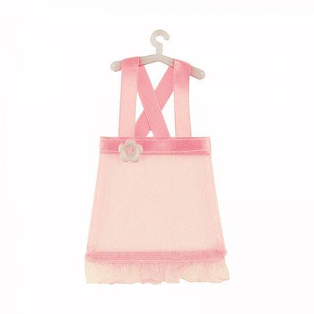 Petite Robe Bretelle Contenant dragées rose