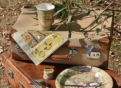 Deco de table thème voyage