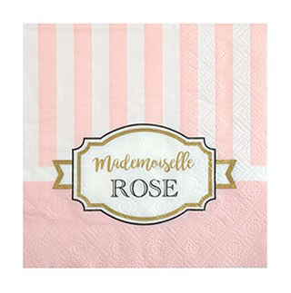 Serviettes Papier Baby Shower Rose