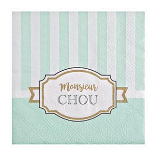 Serviette Papier Baby Shower Vert amande
