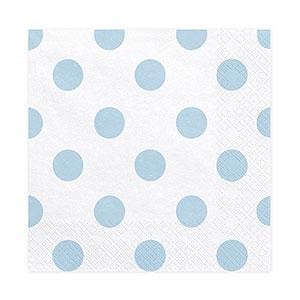 Serviettes Papier Pois Bleu