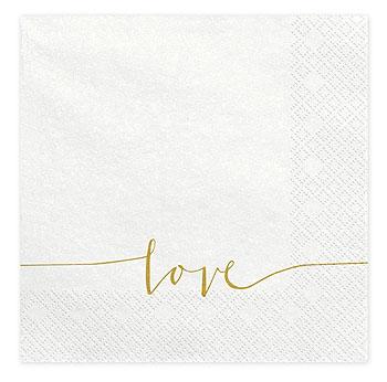 Serviettes Papier Love