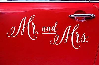 Sticker Lettre à Coller et Recoller Mr Mrs Pas Cher