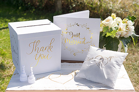 Déco Thème Mariage Just Married Gold Tendance