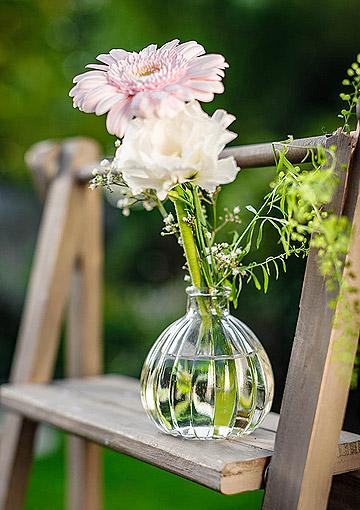 Petit vase en verre vintage