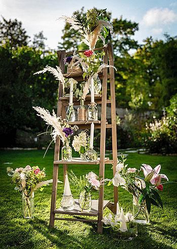 Vases vintage ambiance champêtre