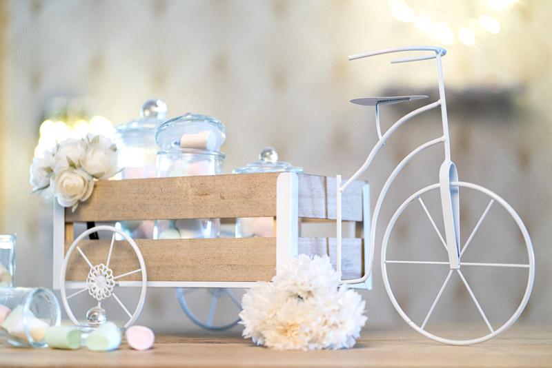 Présentoir Boite Dragée Baptême Vélo Déco Candy Bar