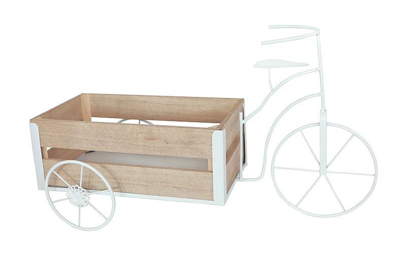 Présentoir Baptême Original Vélo Blanc Pas Cher